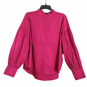 A New Day Button Down Ruffle Collar Blouse Size L